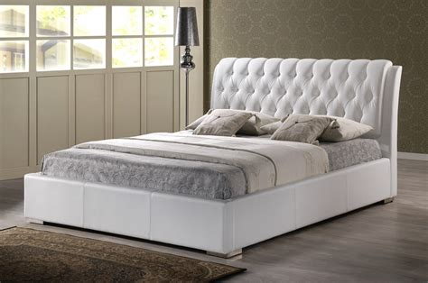 cheap white tufted headboard bianca white modern bed with tufted headboard king size