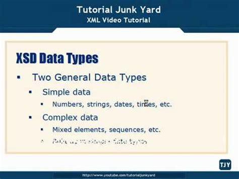 tutorial xml html xml tutorial 32 xsd schema datatypes youtube