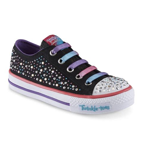 skechers light up shoes girls skechers s twinkle toes twirly toes black light up