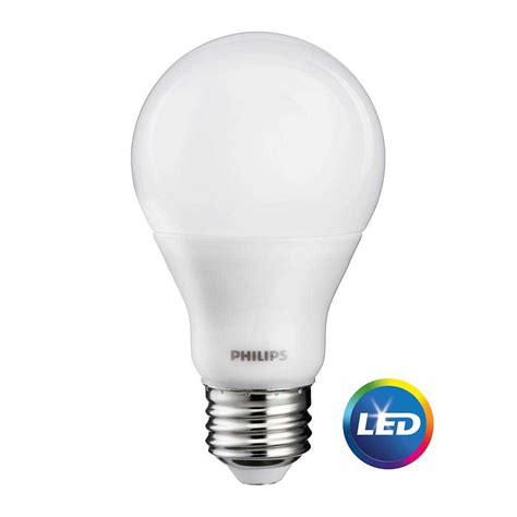 Philips A19 Led Light Bulb Philips 60w Equivalent Cri90 A19 Dimmable Soft White Led