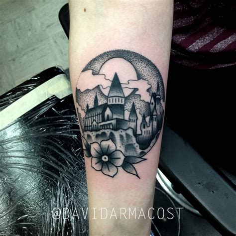 hogwarts castle tattoo hogwarts by david armacost me at designs by