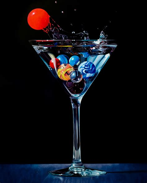martini and marbles in a martini glass marbles