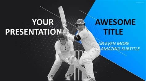 cricket themes for powerpoint 2007 30 sports mega powerpoint template