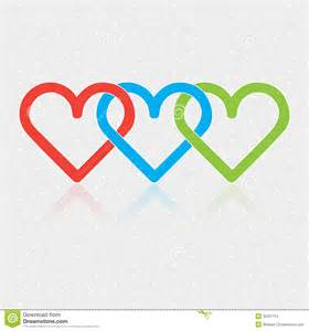 design associated three hearts stock images image 35537154