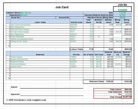 accounting standard cost card template labor material cost estimator and card template ms