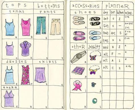 Travel Wardrobe Planner by Travel Wardrobe Planner Journaling Zentangles