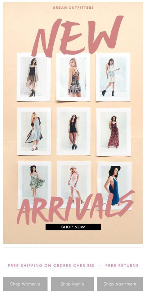 email format urban outfitters urban outfitters new email design inspiration