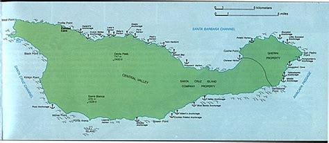 map of island california maps of santa island detail map channel islands