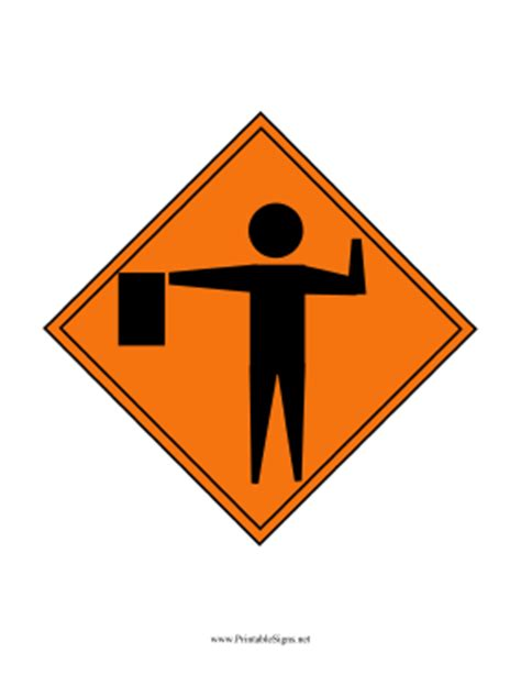 free printable road construction signs printable construction flagger sign