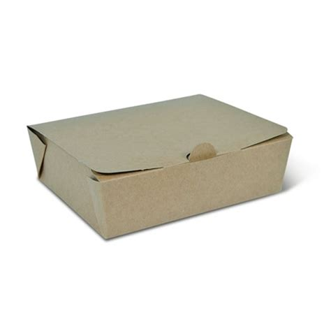 Take Away Lunchbox Lunch Box lunch box kraft brown large 1000ml alpha food packaging