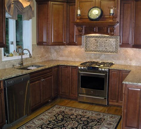 kitchen backsplash ideas cherry wood kitchen cabinet