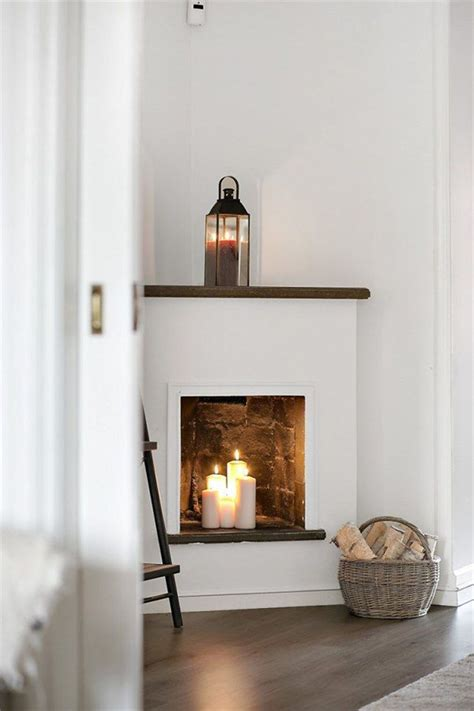 candles in fireplace 20 romantic fireplace candle ideas home design and interior