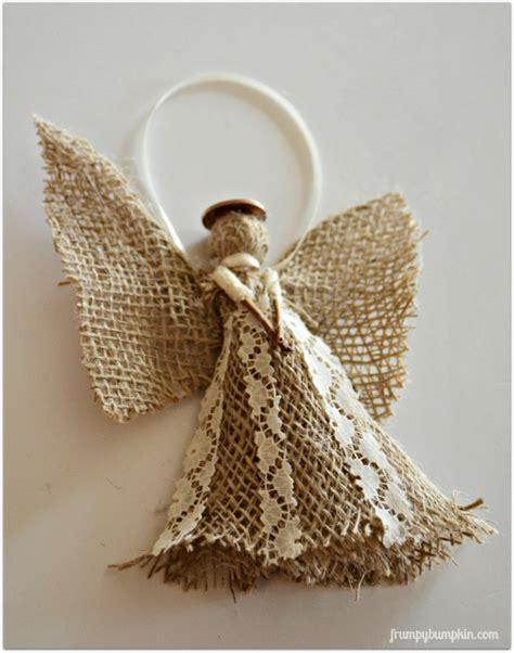 burlap angel christmas ornament hometalk