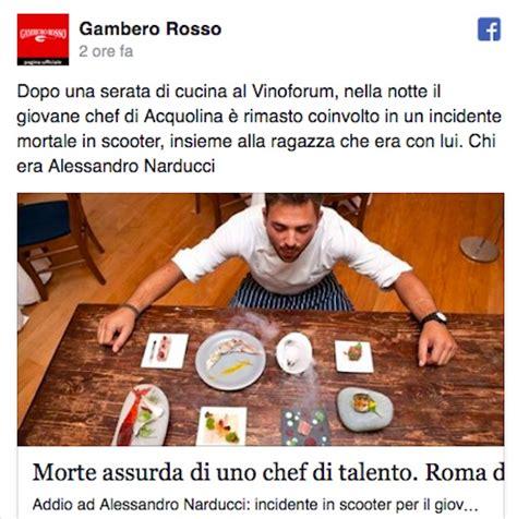 acquolina di roma morto lo chef alessandro narducci