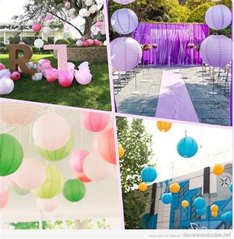 decorar con globos jardin decoraci 243 n de bodas en el jard 237 n con globos de papel de