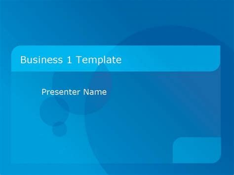 simple business template powerpoint business 1 powerpoint template