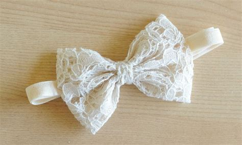 crochet baby headband with lace bow and by allbabygirls baby bow headband lace bow on elastic