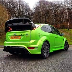 Green Ford Focus Ultimate Green In Focus Rs With Big Spoiler From Wrc