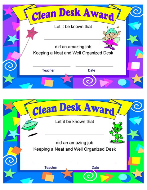 Clean Desk Award help for the organizationally challenged