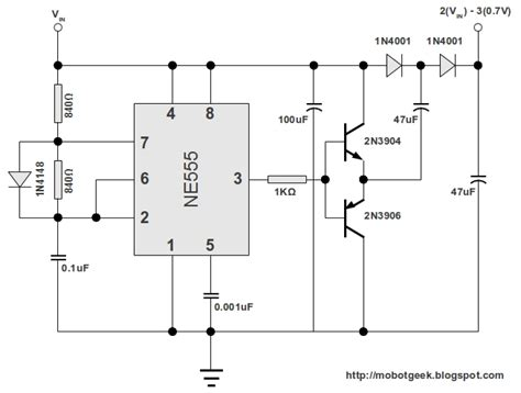 voltage doubler integrated circuit 555 dc voltage doubler circuit