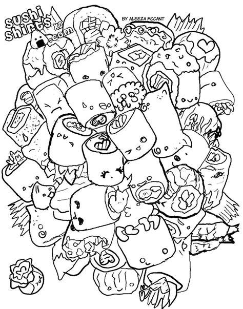 kawaii sushi coloring pages cute sushi coloring pages coloring pages