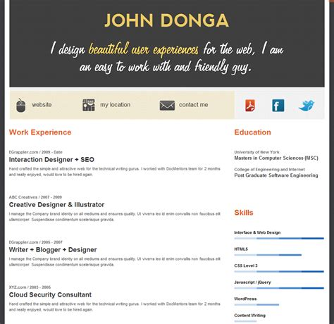 resume builder examples