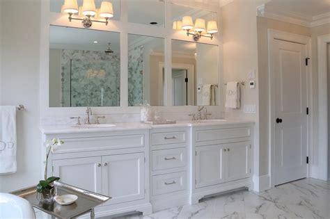 Under Sink Bathroom Cabinets - restoration hardware lugarno triple scon transitional bathroom ciuffo cabinetry