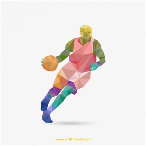 Origami Player Free - polygon origami basketball vector vector free