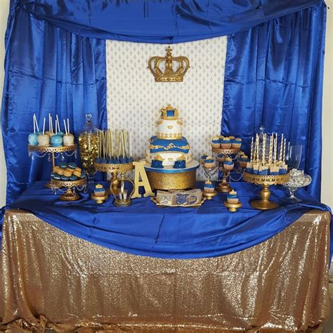 Royalty Themed Baby Shower by Royal Prince Baby Shower Royal Prince Dessert Table
