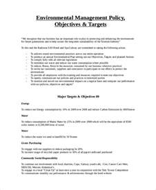 Environmental Procedures Template environmental policy template 7 free premium templates