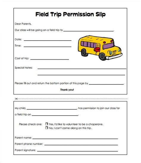 field trip planner template image result for basic field trip permission slip