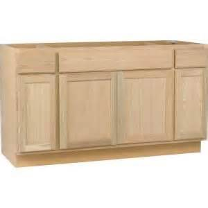 Kitchen Base Cabinets Home Depot Unbranded 60x34 5x24 In Sink Base Cabinet In Unfinished Oak Kitchenettes Home Depot Kitchen