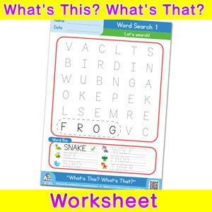 Search Free Ws What S This What S That Free Esl Worksheet Word Search 1 Bingobongo