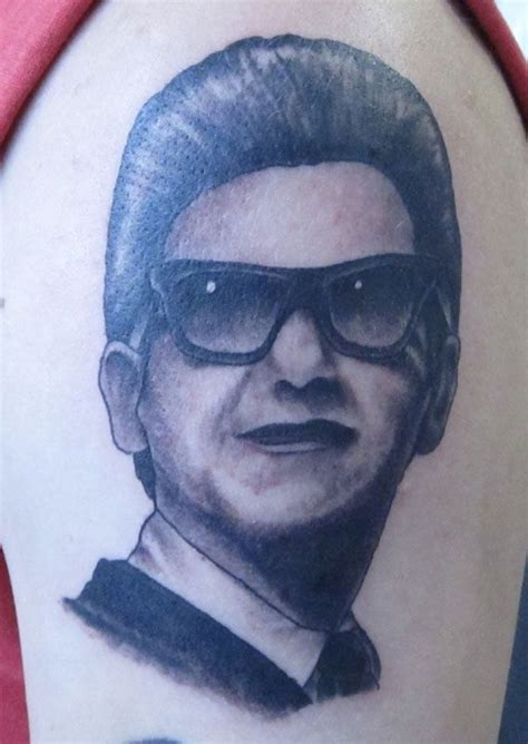 roy orbison portrait by chris debarge tattoos