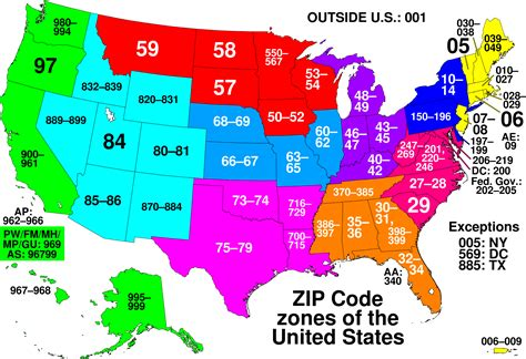 area code map zip codes then and now