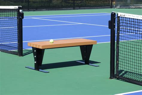 tennis court benches flat bench no canopy sun trends inc