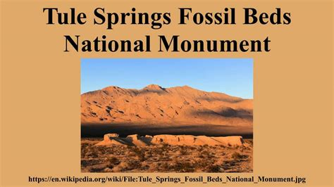tule springs fossil beds national monument tule springs fossil beds national monument youtube
