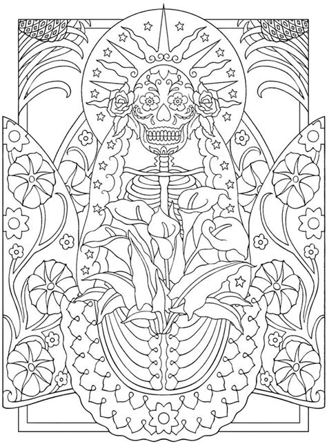 day of the dead coloring pages for adults coloring pages