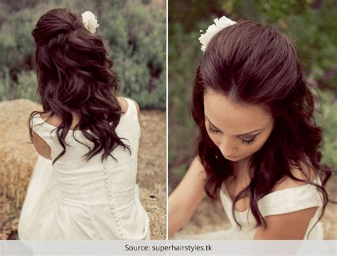 wedding hairstyles half up half down for short hair top 4 half up half down wedding hairstyles