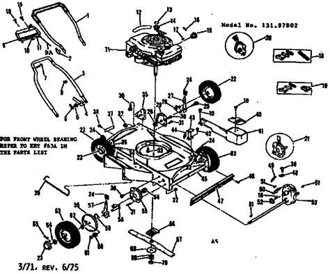 craftsman lawn mower parts diagram sears craftsman lawn mower diagram sears craftsman lawn