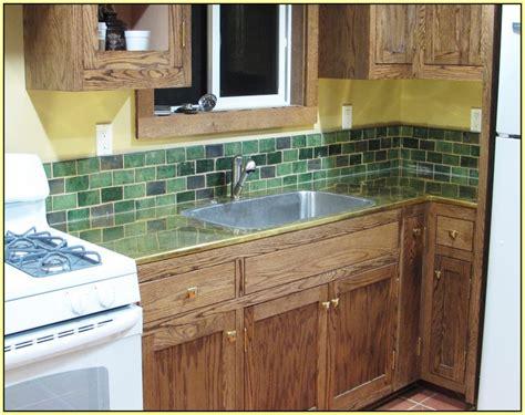 arts and crafts tile backsplash kitchen home design ideas