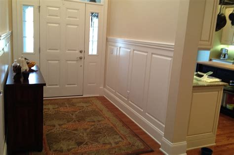 foyer wainscoting design ideas custom raised panel foyer wainscoting pictures
