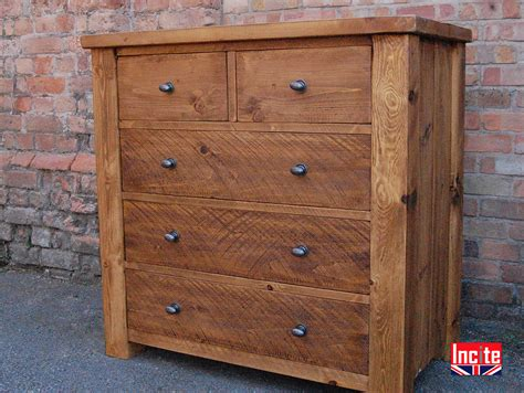 handcrafted plank pine chest of drawers by incite derby