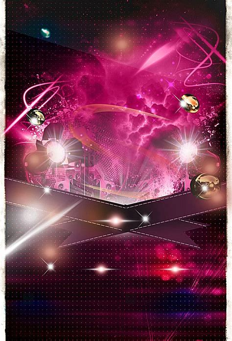 clubhouse party poster colorful background poster