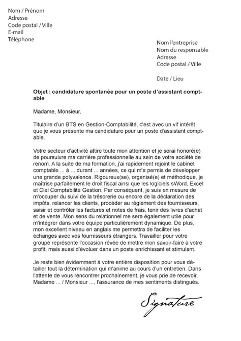 Exemple Lettre De Motivation Candidature Spontanée Comptable Modele Lettre De Motivation Candidature Spontanee Comptable Document