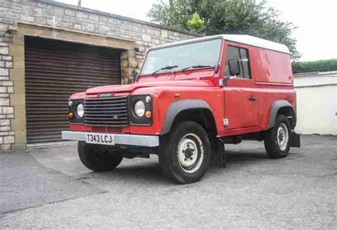 red land rover defender red panel van 1964 volkswagen bus panel van westfalia