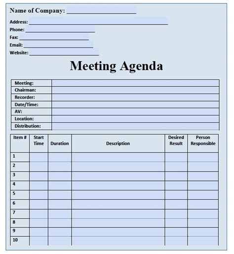 one on one staff meeting agenda template staff meeting agenda template word images
