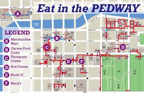 chicago pedway map a pedway map for a warm coat free indoor lunch chicago