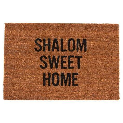 Sweet Home Doormat shalom sweet home doormat