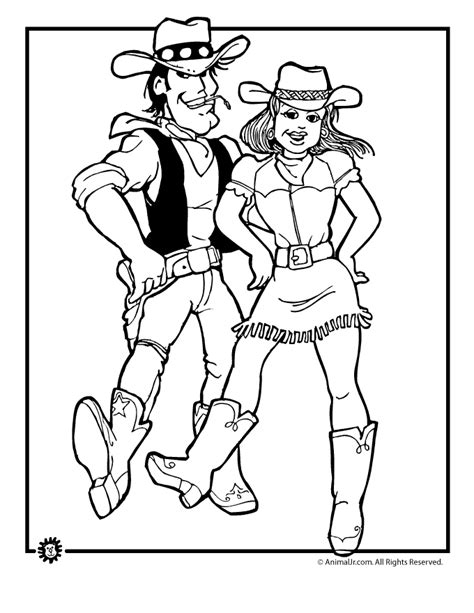 cowboy and cowgirl coloring pages az coloring pages